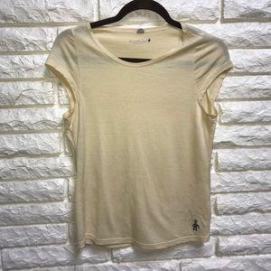Smartwool yellow cap sleeve merino wool t-shirt S